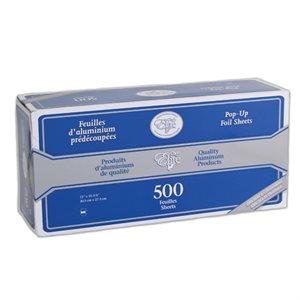 """Feuille D'Aluminium Prédécoupées, 30 X 27 CM, """"ChefElite"""""""