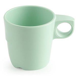 Tasse à café en mélamine, 285ml, verte