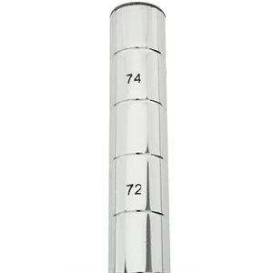 """POTEAU PLAQUÉ EN CHROME 74"""" (188cm)"""