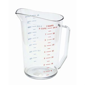 Tasse à Mesurer 2 Qt / 1.9 L, Transparent