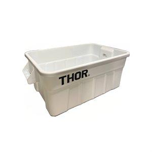 Boîte de rangement, avec couvercle, 53L, Blanc