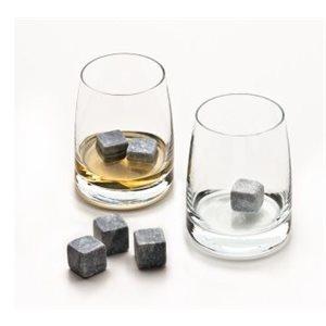 Ensemble Whisky, 2 Verres, 1 Sacoche, 6 Pierres A Whisky