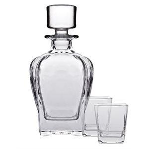 "Ensemble Whisky, Carafe 700 ML (23.7 Oz), 2 Verres (295 ML), ""Tandem"""