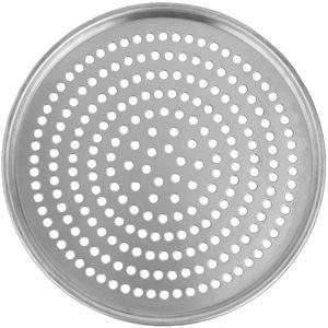 Assiette A Pizza En Aluminium, Perforée, 14 Po En Diamètre