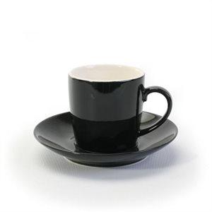 Ensemble d'Espresso en grès, BIA Cordon Bleu, Noir