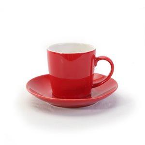 Ensemble d'Espresso en grès, BIA Cordon Bleu, Rouge