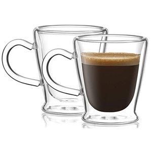 Tasses à espresso Thermax à double paroi (ens de 2)