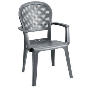 Chaise, Dossier Élevé Séville, Empilable, Charbon