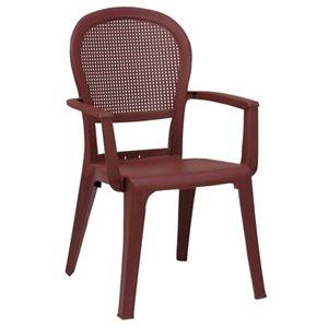 """Chaise, Fauteuil Classique """"Madras"""", Vernis Bordeaux"""