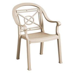 Chaise, Fauteuil De Souper Classique Victoria, Vernis Blanc