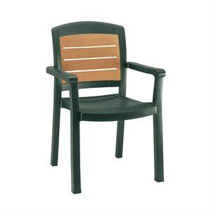 """Chaise, """"Aquaba"""" A Dossier Élevé , Empilable, Vert Amazone"""