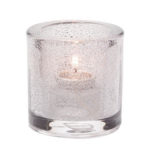 Lumignon/Bougie De Table En Verre Epais, Transparent