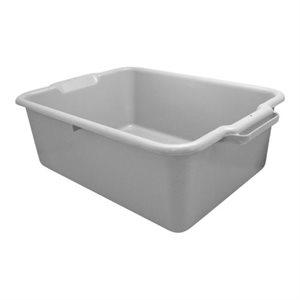 Bac à vaisselle gris, 20 x 15 x 7 po. (50.8 x 38.1 x 17.8cm)