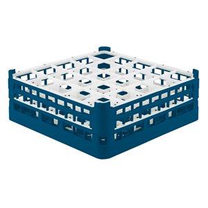 Égouttoir/Range Verres, 25 Cases (Hauteur 14.4CM), Bleu Royal