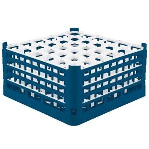 Égouttoir/Range Verres, 36 Cases XX-Grandes (Hauteur 22CM), Bleu