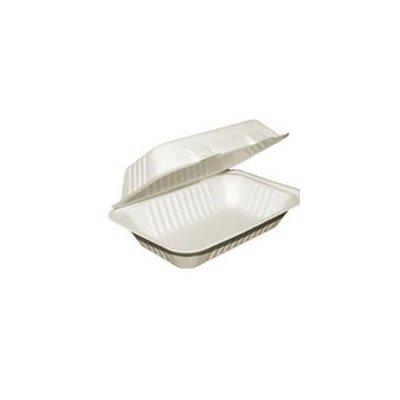 Boîte à emporter compostable (9 x 6 x 3po) - 50 mcx.