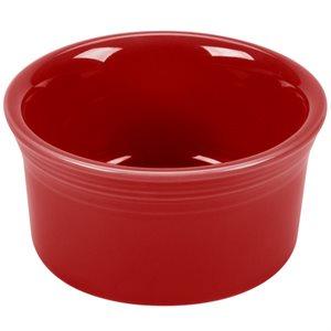 Ramequin en Porc. Fine 8oz, Rouge écarlate (6 / cs)