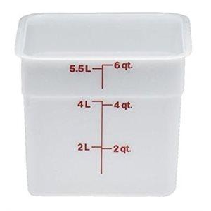 Boîte de Rangement, Cambro 6SFSP148 6 Qt. Blanche