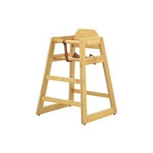 Chaise haute en bois naturel