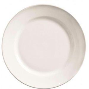 """Assiette Ronde, Bord Roulé, Diamètre 11 Po (28 CM), """"Porcelana"""""""