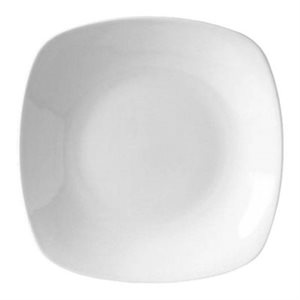 "Assiette Carrée, Blanc, 23 CM, ""Performance Taste White"""