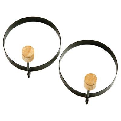 Ens. de 2 anneaux pour oeufs/crêpes