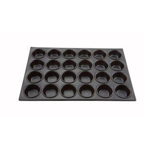 Moule A Muffins, 24 Fentes, Aluminium Toute Épreuve, Antiadhésif