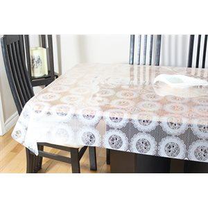 """Nappe de Table """"Dentelle Blanche"""", 54 Po x 25 Mètres"""