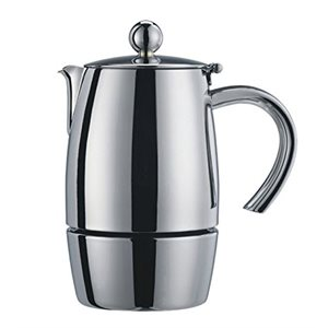 "Cafetière A Espresso, 10 Tasses, Acier Inoxydable 18/10, ""Liberta"""