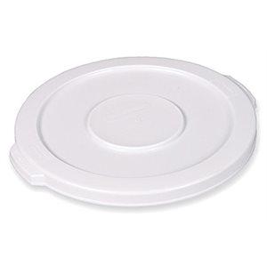 Couvercle A Bac, Rond, Pour Bac De 44 Gallons/165.5 Litres, Blanc