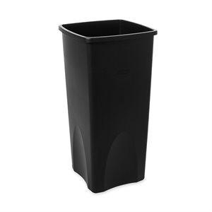 Poubelle Carrée, 87.1 Litres, Noir