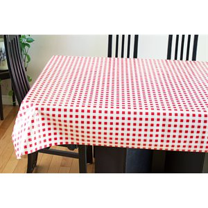 "Nappe de Table ""Carreaux Rouges et Blancs"", 54 Po x 25 Mètres"