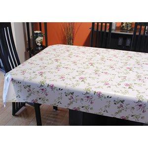 """Nappe de Table """"Fleur Pourpre"""", 54 Po x 20 Mètres"""