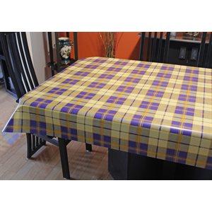 """Nappe de Table """"Carreaux Bleu et Jaune"""", 54 Po x 20 Mètres"""