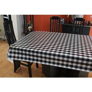 """Nappe de Table """"Carreaux Noir et Blanc"""", 54 Po x 20 Mètres"""