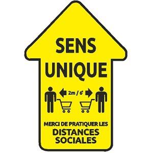 Panneau de plancher - Flèche jaune (français)