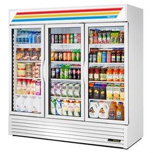 Réfrigérateur/Vitrine, 3 Portes En Verre, 79 X 29 X 79 Po