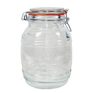Pot (Jarre) De Stockage En Verre, Couvercle A Serrage, 2.2 L