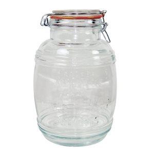 Pot (Jarre) De Stockage En Verre, Couvercle A Serrage, 3.2 L