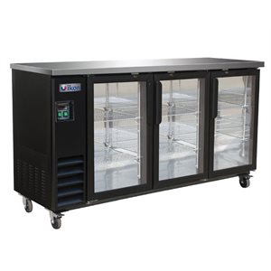 Réfrigérateur à l'arrière bar, porte battantes, 72 po.