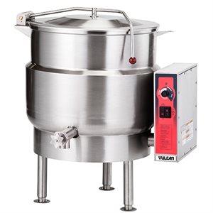 Bouilloire Électrique, 40 Gallons, 208V/60Hz/3Ph, 2 valves