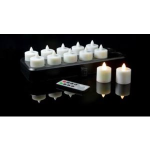 "Rec. Candles - ""Super Ultra Wiselite"" (12) c/w Base and Adapter (WarmWhite)"