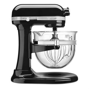 "Mixer, Stand, 6 Qt Glass Bowl, ""Professional 6500"", Black"