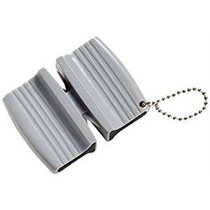 Aiguisoir Double Style Porte-clés, En Plastique, Gris