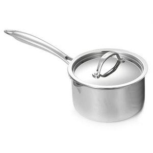 Casserole A Sauce, 1 Pt, Acier Inoxydable 18/10, 1L, Avec Couvercle