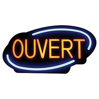 "Enseigne Ouvert/Fermé LED, Francais, ""Royal Sovereign® LED"""