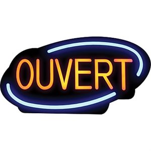 "Enseigne Ouvert/Fermé LED, Francais, ""Royal Sovereign® LED"""