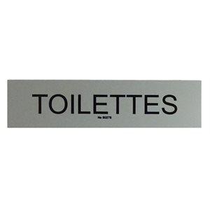 """Signe """"Toilettes"""" 5 x 20cm, Gris"""