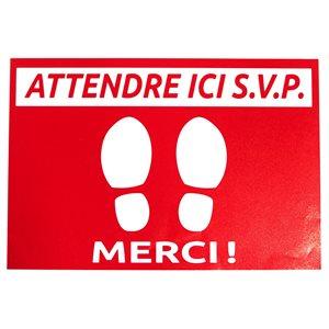 "Affiche Plancher - ""ATTENDRE ICE SVP"" - 24 X 35.5CM"