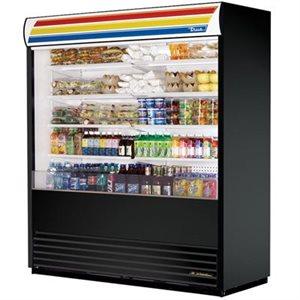 """Réfrigérateur A Rideau Ouvert, Noir, 72 X 30.13 X 80.63 Po, """"True"""""""